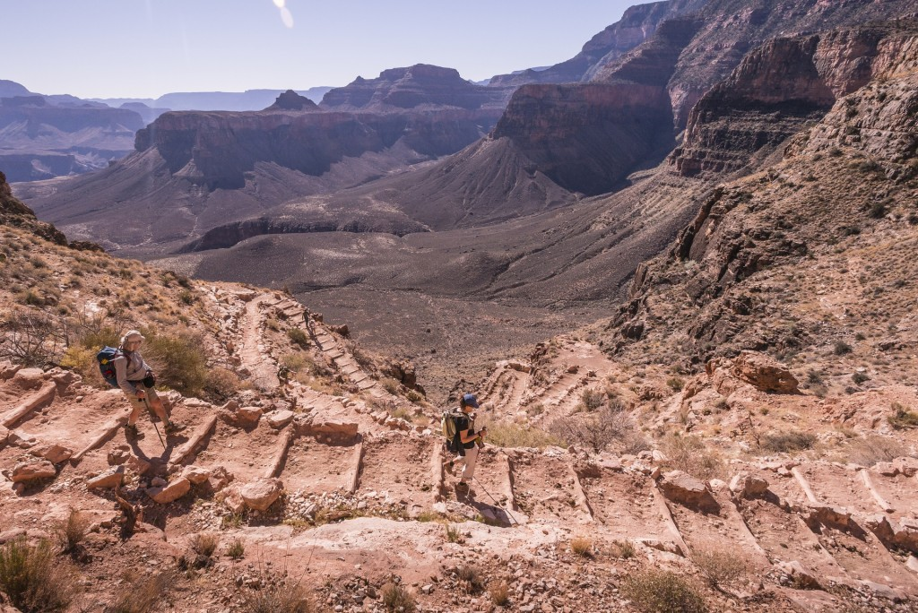 Descending into the heart of the Grand Canyon.
