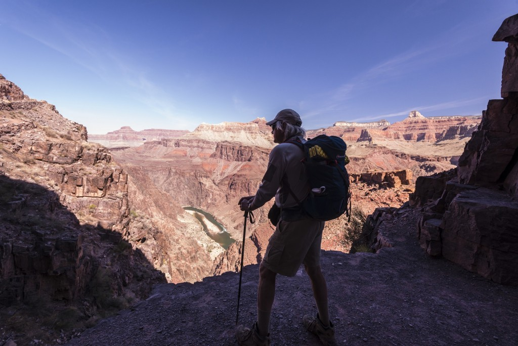 Looking over the Colorado from the South Kaibab Trail.