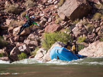 Grand Canyon helicopter rescue at Hance Rapid