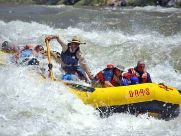 Michael Fabry guides a Grand Canyon rafting trip